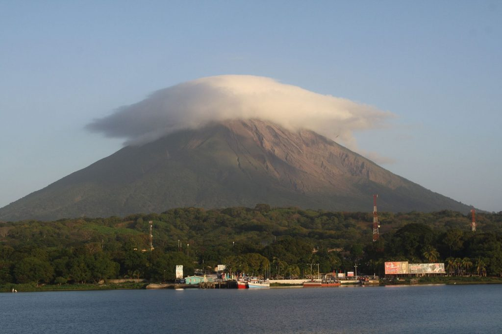 View of Concepción Volcano and the port of Moyogalpa
